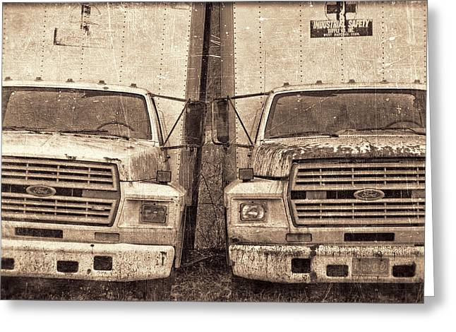 Jeff Greeting Cards - Forgotten Trucks Greeting Card by Jeff  Gettis