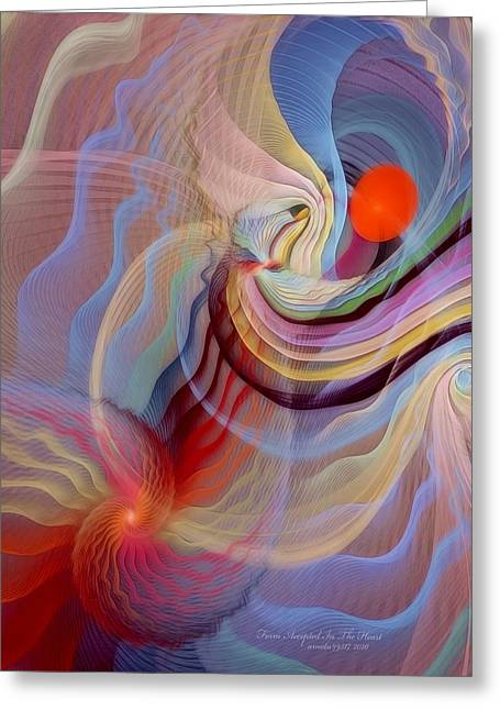 Recently Sold -  - Abstract Digital Pastels Greeting Cards - Form Accepted in the Heart Greeting Card by Gayle Odsather