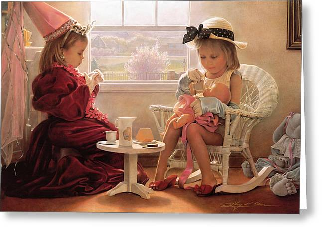 Kid Greeting Cards - Formal Luncheon Greeting Card by Greg Olsen