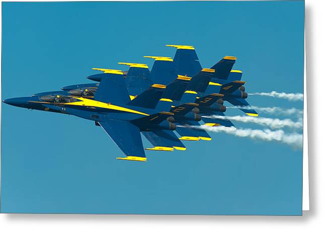 Flight Greeting Cards - Formation Greeting Card by Sebastian Musial