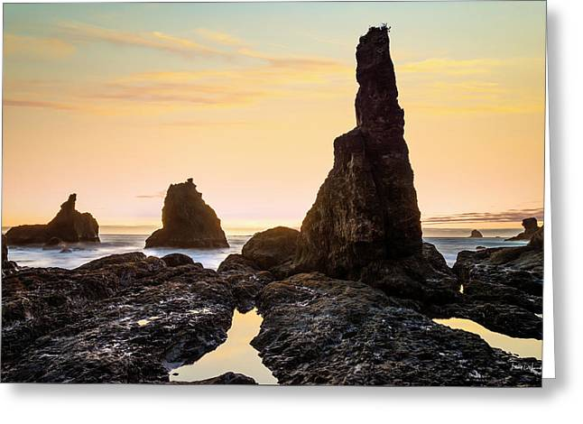 Formed By Waves Greeting Card by Leland D Howard