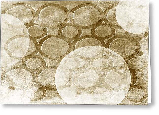 Spheres Mixed Media Greeting Cards - Formed In Fall Greeting Card by Angelina Vick