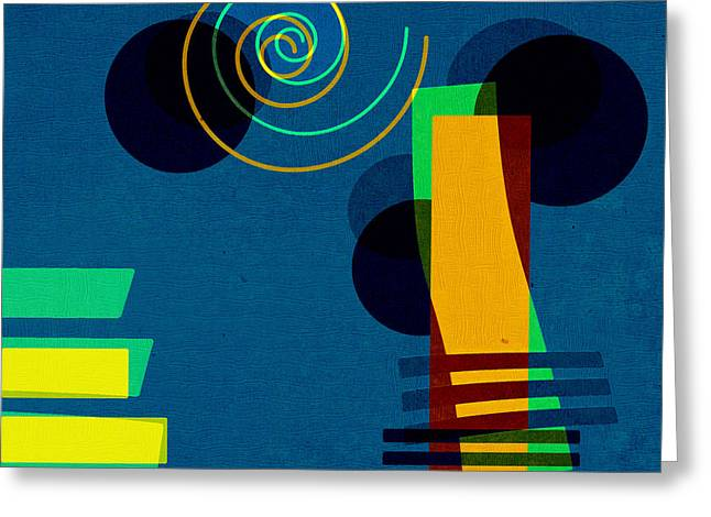 Abstract Digital Art Greeting Cards - Formes - 03b Greeting Card by Variance Collections