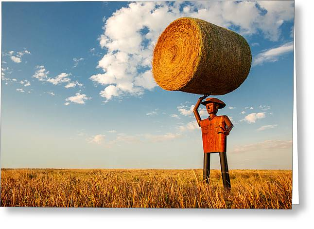 Formidable Farmer Greeting Card by Todd Klassy