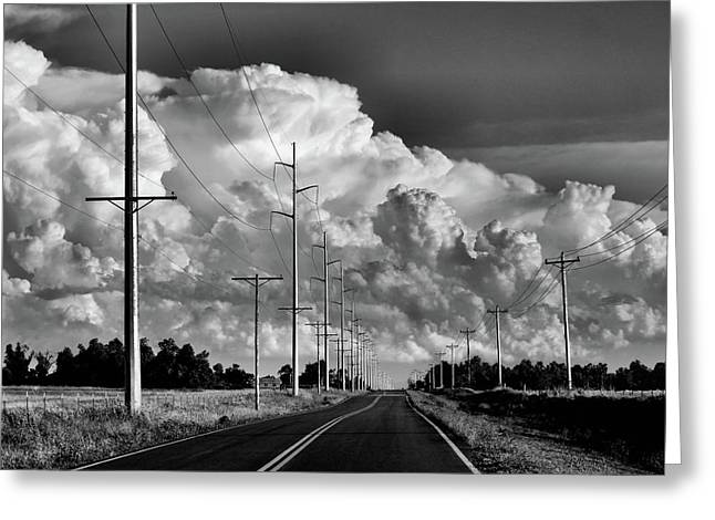 Powerline Greeting Cards - Forms of Energy Greeting Card by Karen M Scovill