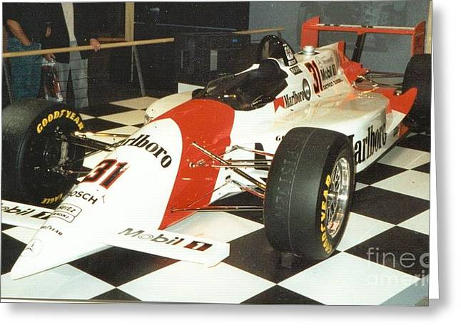 Indy Car Greeting Cards - Formula Greeting Card by Frederick Holiday
