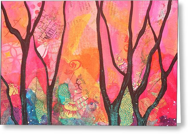 Forrest Energy II Greeting Card by Shadia Zayed
