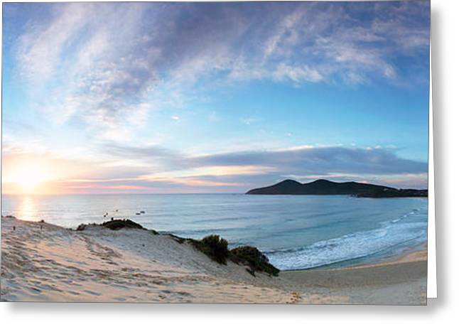 Nicholas Greeting Cards - Forster One Mile Beach Greeting Card by Nicholas Blackwell