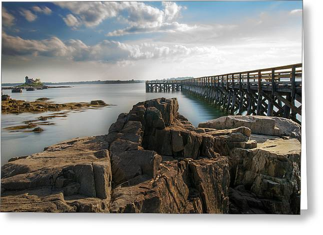Maine Beach Greeting Cards - Fort Foster Maine Greeting Card by Megan Zopf