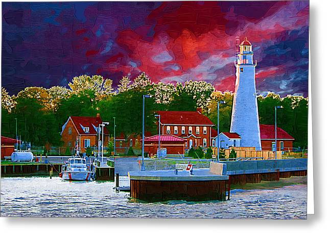 Huron Coast Greeting Cards - Fort Gratiot Lighthouse Greeting Card by Paul Bartoszek