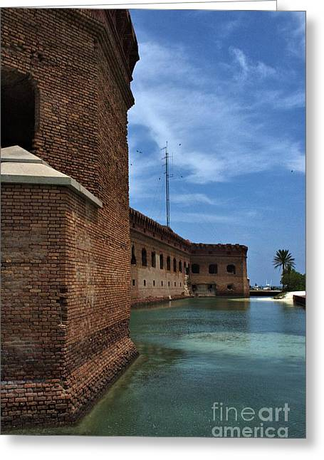 Dry Tortugas Greeting Cards - Fort Jefferson Moat Greeting Card by Edna Weber