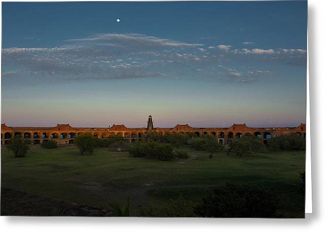 Dry Tortugas Greeting Cards - Fort Jefferson on the Dry Tortugas Greeting Card by Gerald DeBoer