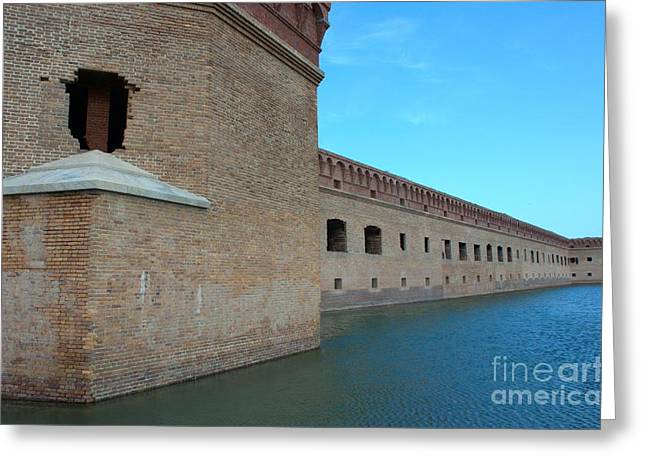 Fort Jefferson Sideview Greeting Card by Edna Weber