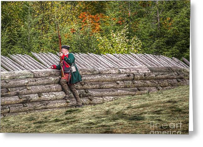 Citizens Greeting Cards - Fort Ligonier Sentry Lonely Vigil Greeting Card by Randy Steele