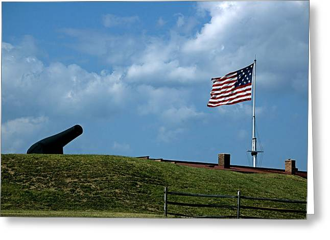 Maryland Flag Greeting Cards - Fort McHenry Baltimore Maryland Greeting Card by Wayne Higgs