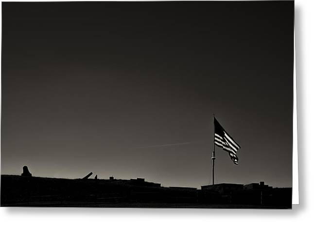 Fort Mchenry Greeting Card by Geoffrey Baker