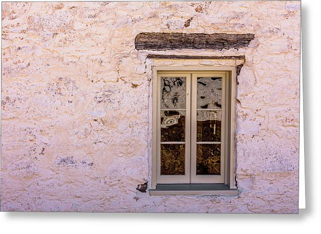 Fort Mckavett - Officers Quarters Window Greeting Card by Debra Martz