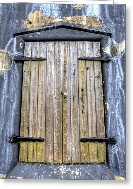 Fort Greeting Cards - Fort Moultrie Bunker Door Greeting Card by Dustin K Ryan
