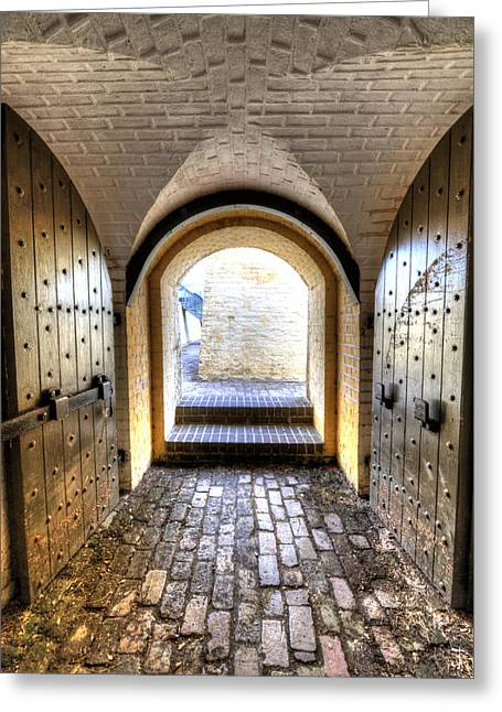 Fort Greeting Cards - Fort Moultrie Bunker Doors Greeting Card by Dustin K Ryan