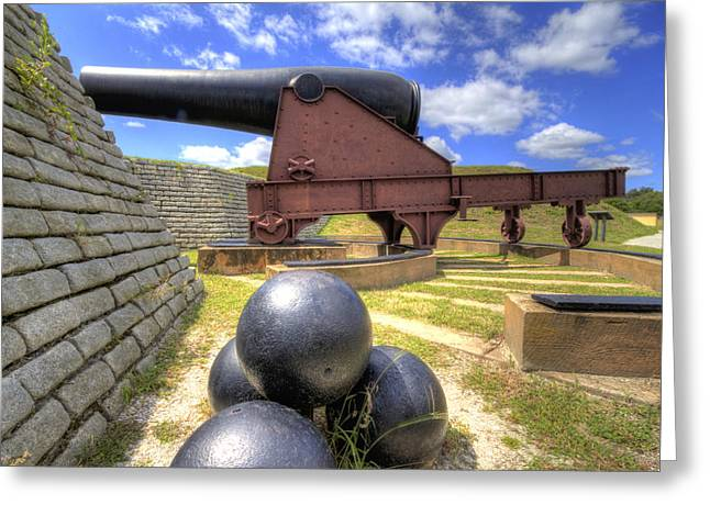 Fort Greeting Cards - Fort Moultrie Cannon Balls Greeting Card by Dustin K Ryan