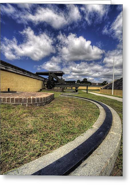 Fort Greeting Cards - Fort Moultrie Cannon Rails Greeting Card by Dustin K Ryan