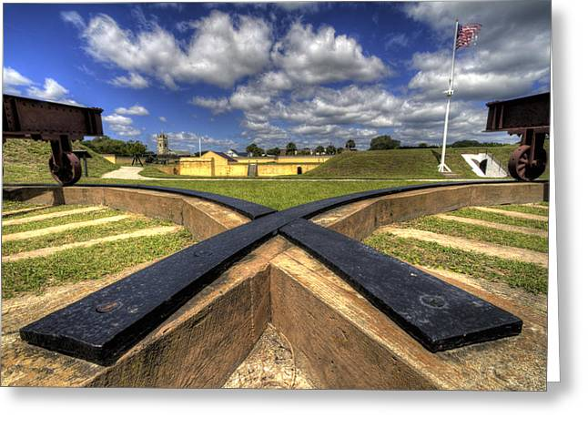 Fort Moultrie Cannon Tracks Greeting Card by Dustin K Ryan