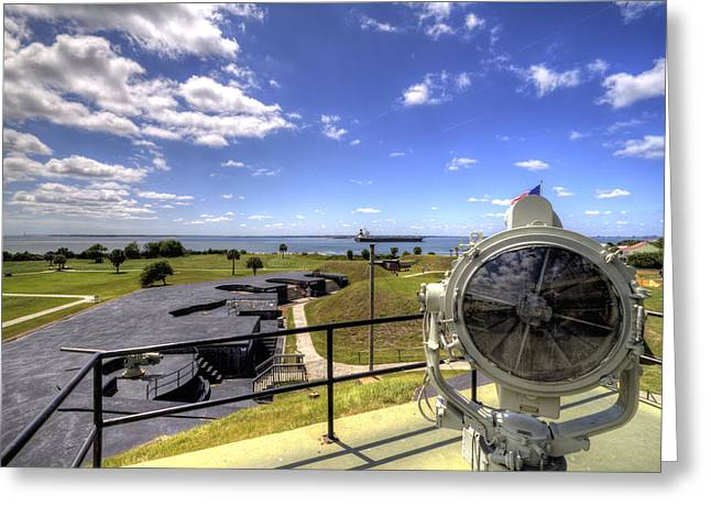 Fort Greeting Cards - Fort Moultrie Signal Light Greeting Card by Dustin K Ryan