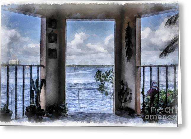 Fort Myers Florida Greeting Card by Edward Fielding