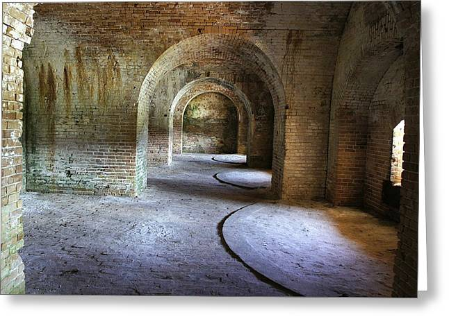 Civil War Battle Site Greeting Cards - Fort Pickens 3 Greeting Card by Laurie Perry