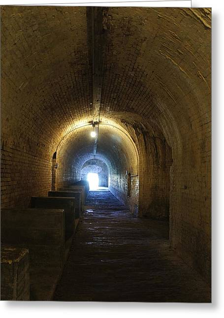 Civil War Battle Site Greeting Cards - Fort Pickens Hall Greeting Card by Laurie Perry