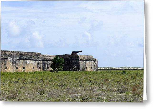 Civil War Battle Site Greeting Cards - Fort Pickens Greeting Card by Laurie Perry
