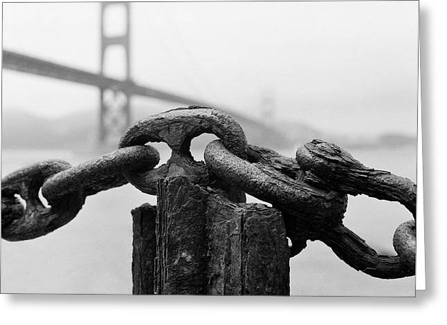 Golden Chain Greeting Cards - Fort Point Greeting Card by Hans Mauli