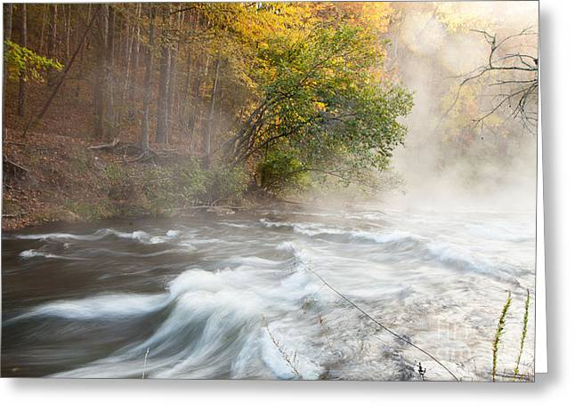 Fall Scenes Greeting Cards - Fort River Greeting Card by Iris Greenwell