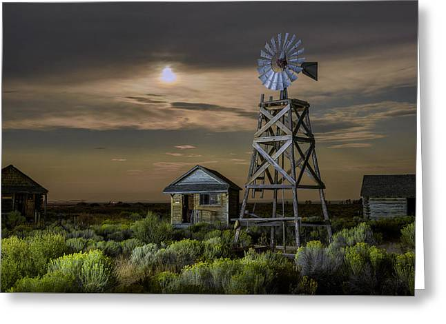 Night Photography Workshop Greeting Cards - Fort Rock Greeting Card by Christian Heeb
