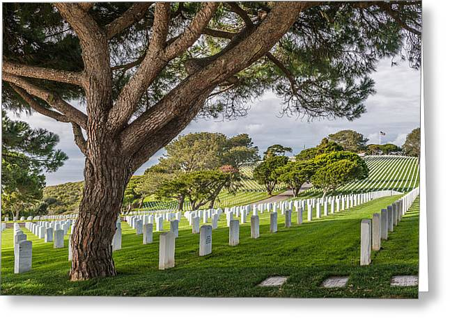 United Greeting Cards - Fort Rosecrans National Cemetery - Photograph by Duane Miller Greeting Card by Duane Miller