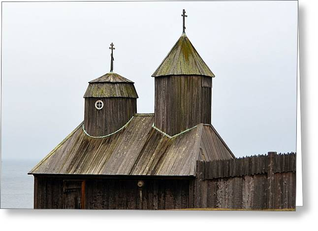Fort Ross Chapel Greeting Card by Carla Parris