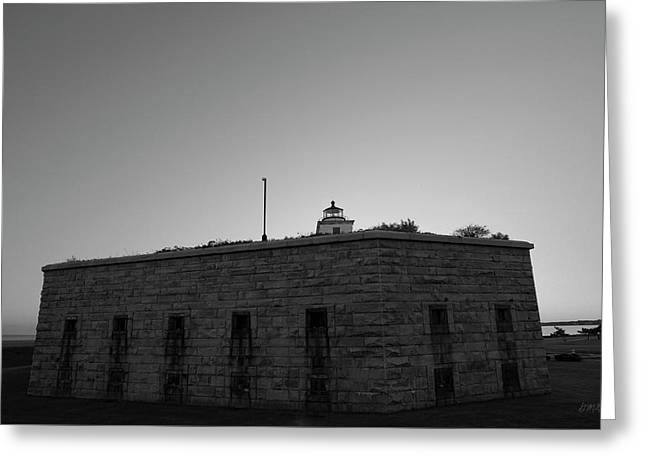 Fort Taber Nb II Bw Greeting Card by David Gordon