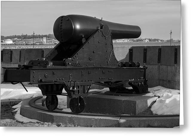 Fort Trumbull Cannon Greeting Card by Kirkodd Photography Of New England