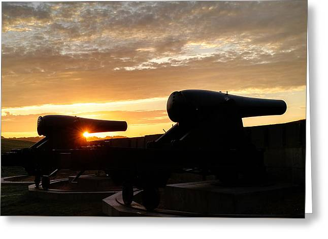 Fort Trumbull Cannons - New London Ct Greeting Card by Kirkodd Photography Of New England