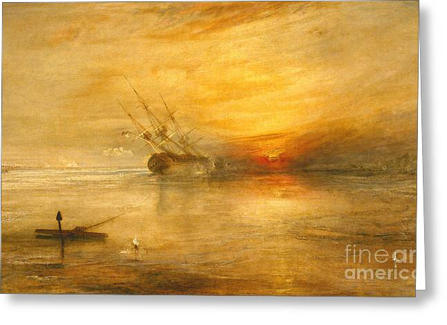 Romanticist Greeting Cards - Fort Vimieux Greeting Card by Joseph Mallord William Turner
