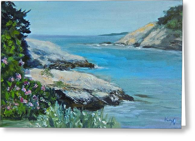 Beach Landscape Greeting Cards - Fort Wetherill State Park Jamestown RI Greeting Card by Patty Kay Hall