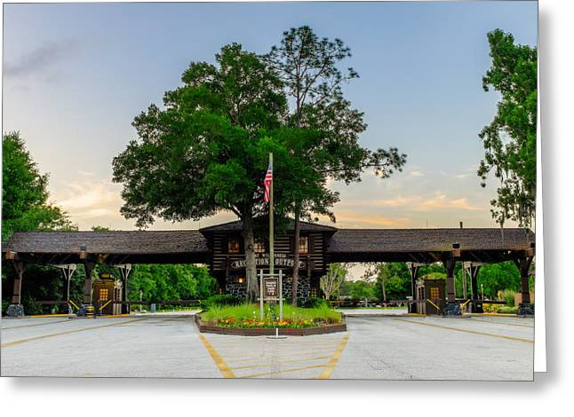 Wdw Greeting Cards - Fort Wilderness Gate Greeting Card by Chris Bordeleau