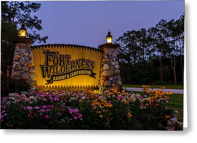 Wdw Greeting Cards - Fort Wilderness Resort and Campground 2 Greeting Card by Chris Bordeleau