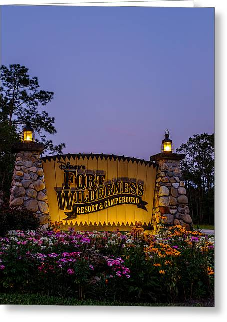 Wdw Greeting Cards - Fort Wilderness Resort and Campground Greeting Card by Chris Bordeleau