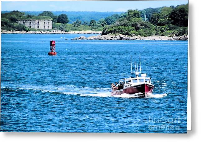 Ocean Photography Greeting Cards - Fort Williams Greeting Card by Elizabeth Dow