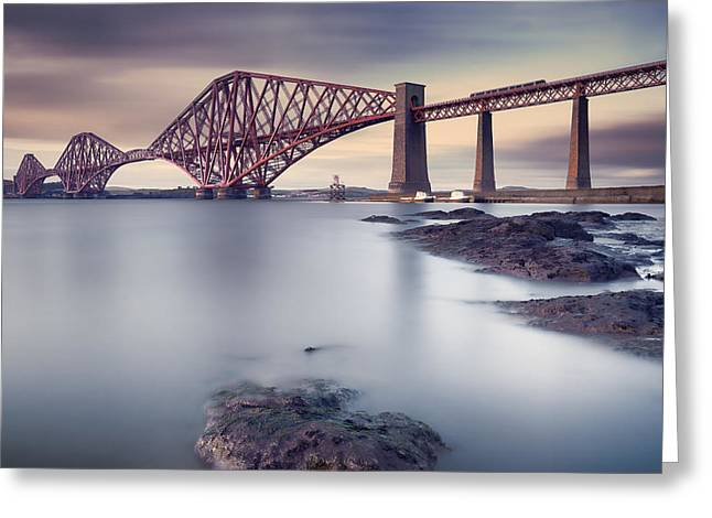 Train Bridge Greeting Cards - Forth Rail Bridge Greeting Card by Martin Vlasko