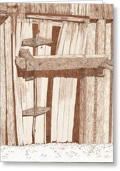 Dilapidated Drawings Greeting Cards - Fortified Greeting Card by Pat Price