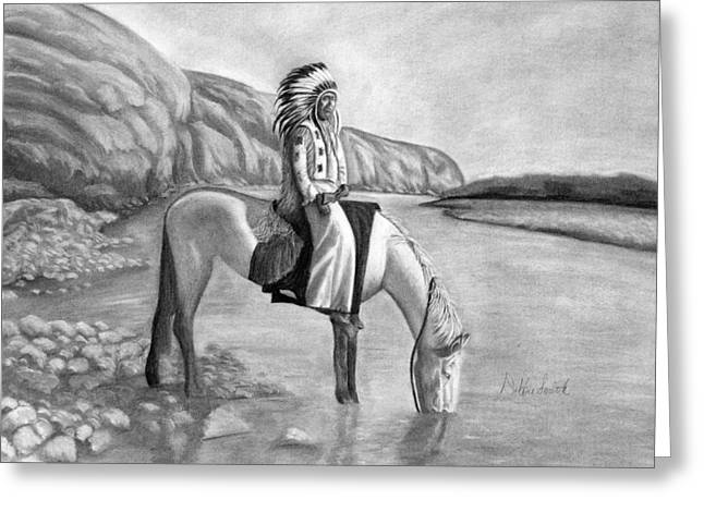 Blackfoot River Greeting Cards - Fortitude Greeting Card by Debbie Smith