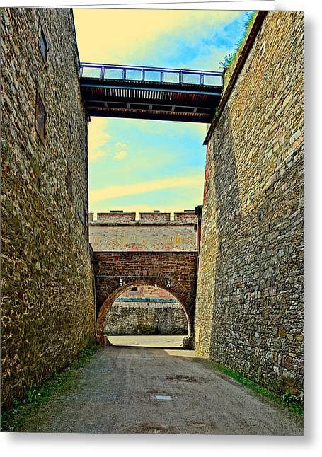 Merging Greeting Cards - Fortress Ehrenbreitstein. Koblenz. Germany.  Greeting Card by Andy Za