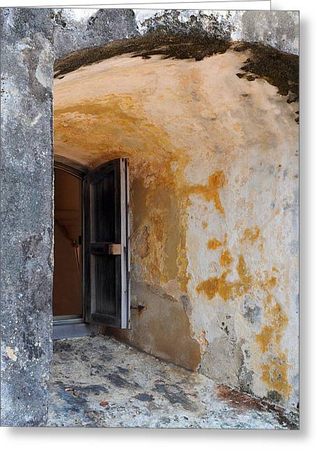 Fortress Window Greeting Card by Stephen Anderson